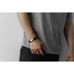 AZE JEWELS Armband TWISTED WAVE BLACK 21cm - 48228