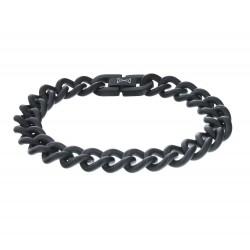 AZE Jewels GOURMETTE SATIN - NOIR 10MM - 47091