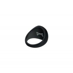 AZE Jewels RING SIGNET - NOIR MAAT 20 - 47100