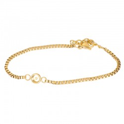 iXXXi Bracelets Box chain top part base goudkleur 17+3cm - 47552