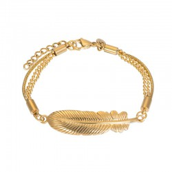 iXXXi Bracelet Feather Goudkleurig - 47343