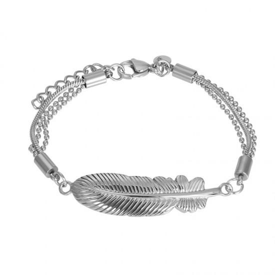 iXXXi Bracelet Feather Zilverkleur - 47345