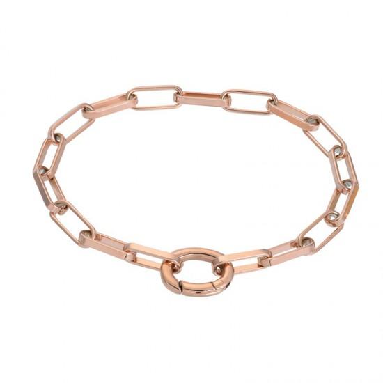 iXXXi Bracelet Square Chain Rosékleurig - 47353