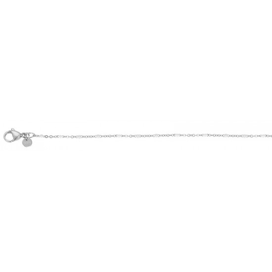 iXXXi Bracelet Slim Ball White Zilverkleur - 47357