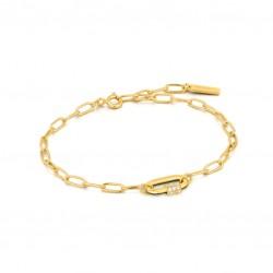 ANIA HAIE Forest Green Enamel Carabiner Gold Bracelet MAAT 18,5cm - 48196