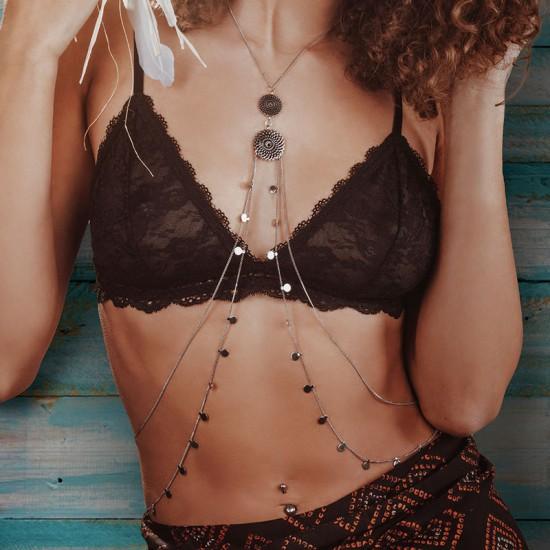 iXXXi Body Chain necklace Zilverkleur - 47361