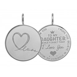 iXXXi Pendant Daughter Love big Zilverkleur - 47370