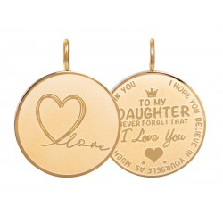 iXXXi Pendant Daughter Love small Goudkleurig - 47371