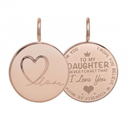 iXXXi Pendant Daughter Love small Rosékleurig - 47372