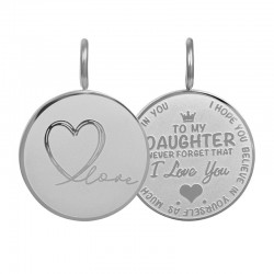 iXXXi Pendant Daughter Love small Zilverkleur - 47373
