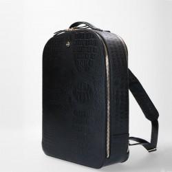 FMME. Laptop rugtas 13.3 inch Claire, Zwart Croco Leer - 47319