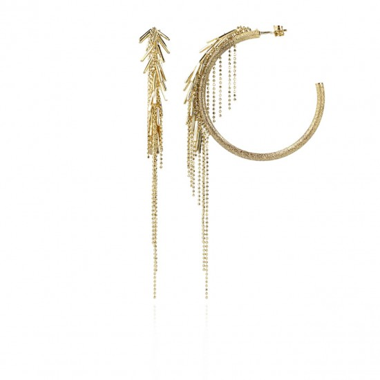 LOTT. Gioielli CLASSIC VIBES BRUSHED CREOLE WATERFALL - 46494