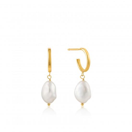 ANIA HAIE Mini hoop earring Pearl Of Wisdom 925 gold - 46933