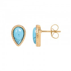 iXXXi Ear studs Magic Turquoise Goudkleurig - 47386