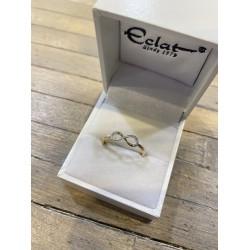 ECLAT Gouden Ring Infinity met Diamand 0,05 crt. - 47440