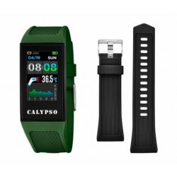 CALYPSO Smartime Watches Groen Fitness Tracker MET THERMOMETER - 47435