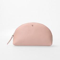 FMME. Make up tasje - Pink Latte Grain Leer - 47296