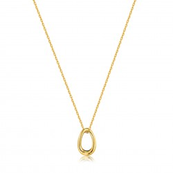 ANIA HAIE Navy Blue Enamel Gold Twisted Pendant Necklace MAAT 45cm - 48191