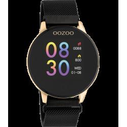 OOZOO Smartwatch 43 mm zwart / rosekleur Q00118 - 47032
