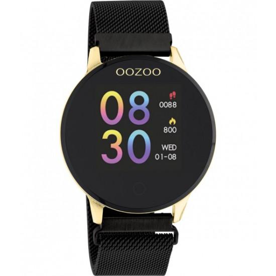 OOZOO Smartwatch 43 mm zwart / goudkleur Q00122 - 46936