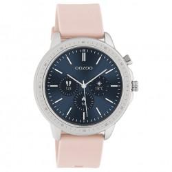 OOZOO Smartwatch 45 mm roze / zilverkleur Q00312 - 47256