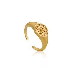 ANIA HAIE Emblem Adjustable Signet Ring S - 47447