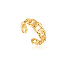 ANIA HAIE Curb Chain Adjustable Ring S - 46167