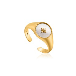 ANIA HAIE Mother of Pearl Emblem Signet Rg. S - 46166