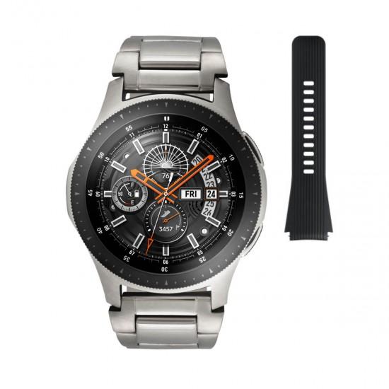 Samsung Special Edition Galaxy Smartwatch Silver horloge 46mm 2 Horlogebanden - 44362