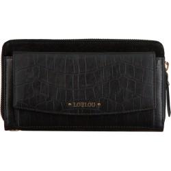 Lou Lou Essentiels Portemonnee Classy Croc Wallet black - 47315
