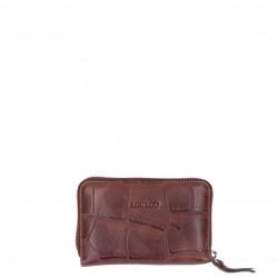 LouLou Essentiels Portemonnee Small I Vintage Croco SLB4XS Dark Brown Silver - 47310