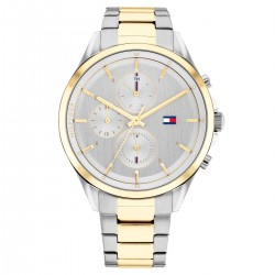 Tommy Hilfiger Horloge Stella Staal Zilverkleurig / Goudkleurig 38mm - 48155