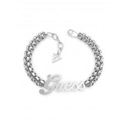 Guess Jewellery Bracelet Logo Power 18.5 t/m 20cm zilverkleur - 46802