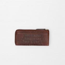 FMME. Grote leren portemonnee - Croco Gold | Brown - 47303